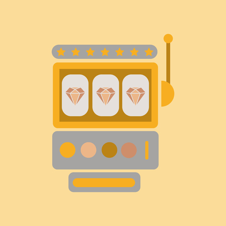 Flat icon  slot machine Illustration