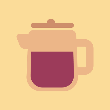 flat icon on background coffee machine maker