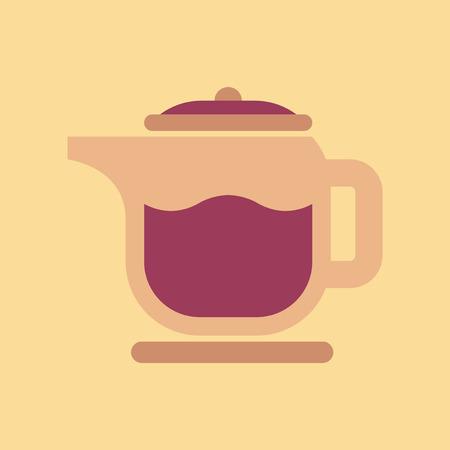 Flat icon on background coffee machine maker