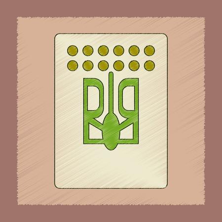 Flat shading style icon emblem Ukraine