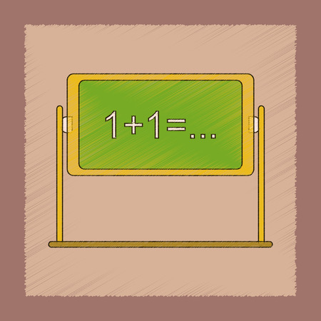 Flat shading style icon school blackboard