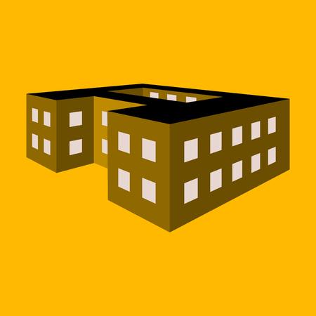 Vector illustration of a school building.
