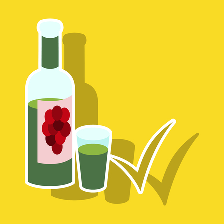 Sticker, wine bottle, it can serve as a layout for future design.