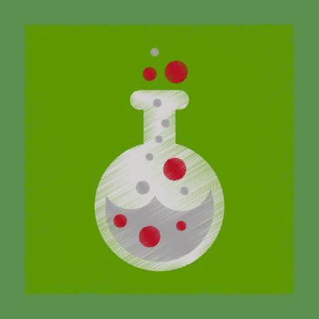 flat shading style icon halloween potion bottle