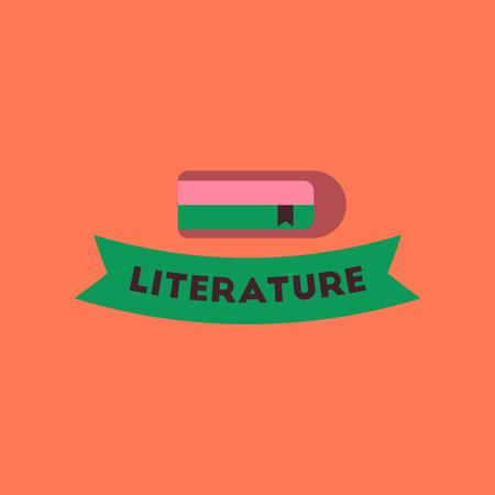 flat icon on stylish background Literature lesson Vector illustration. Ilustração