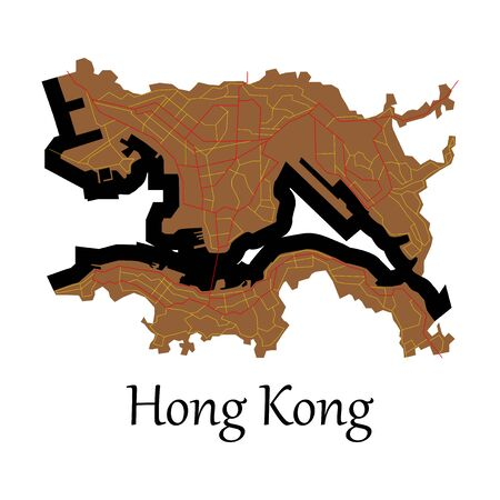 Flat icon in form of Hongkong