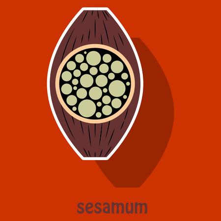Sticker Illustration of the normal Sesamoid bone. External and skeletal views.