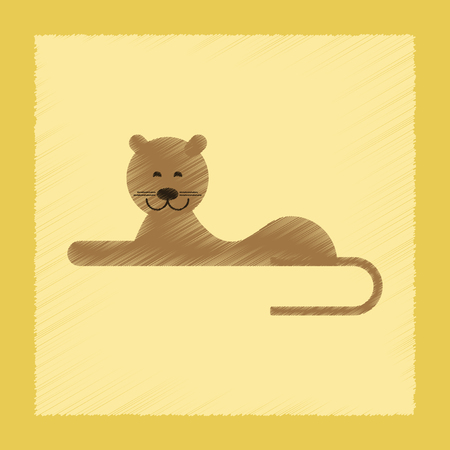 flat shading style icon cartoon lioness Vector illustration Stock Illustratie