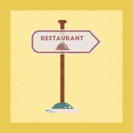 flat shading style icon restaurant sign