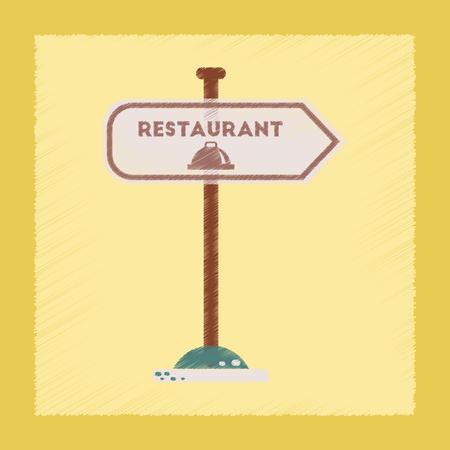 flat shading style icon restaurant sign