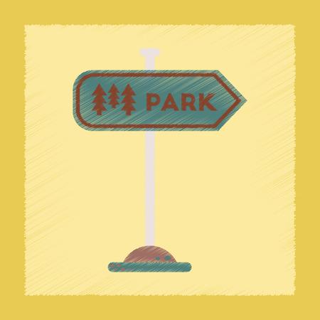 flat shading style icon park sign