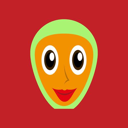 flat icons on theme Arabic business arabic woman smiling