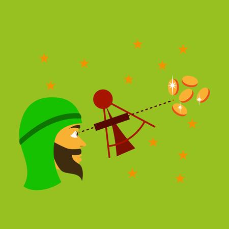 flat icon on theme Arabic business astronomer