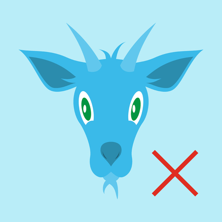 Flat Goat Animal Farm Icon Stock Photo Picture And Royalty Free