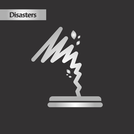 black and white style disaster tornado