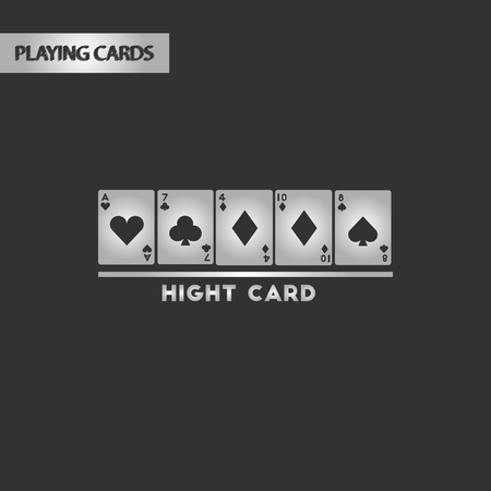 black and white style high card 向量圖像