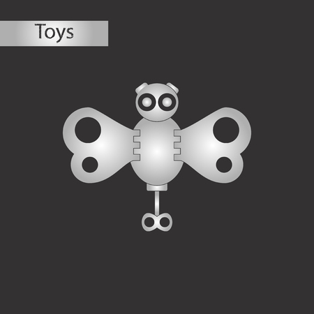 black and white style toy butterfly