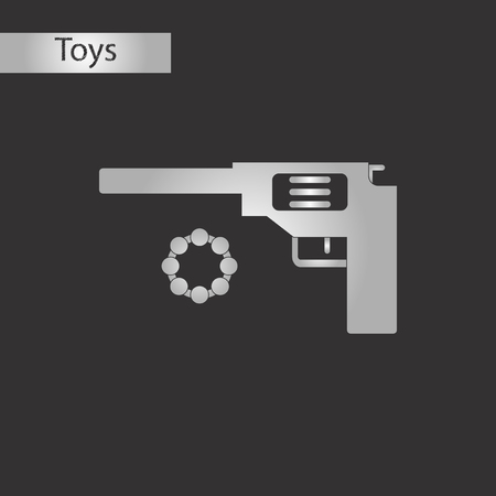 black and white style toy pistol