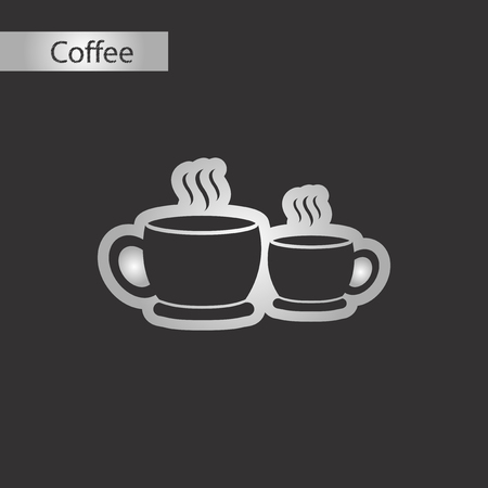 black and white style cups coffee Иллюстрация
