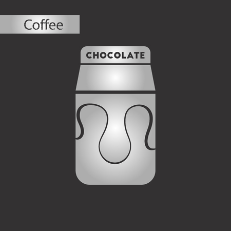black and white style coffee chocolate package Vector illustration.