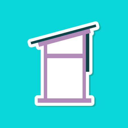 paper sticker on stylish background of desk Vector illustration.  イラスト・ベクター素材