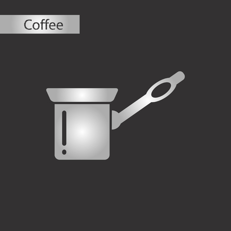 black and white style coffee turk