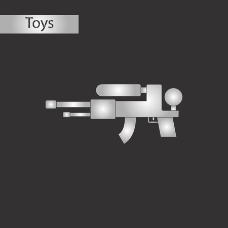 Black and white style toy water gun