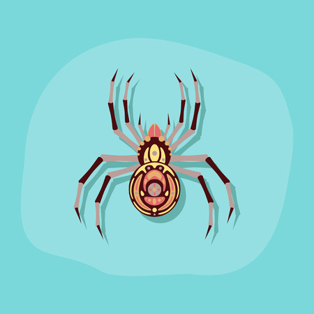 paper sticker on stylish background halloween spider Иллюстрация