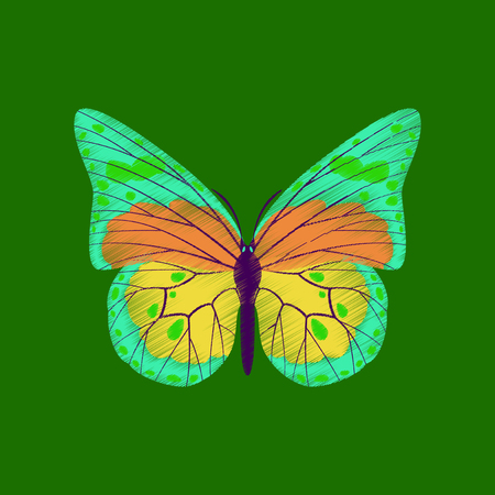 A flat shading style icon butterfly