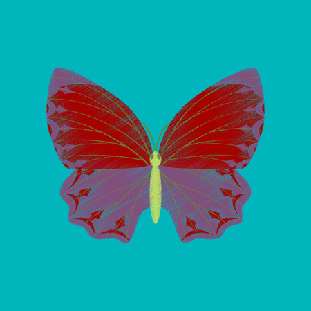 flat shading style icon butterfly Vector illustration.