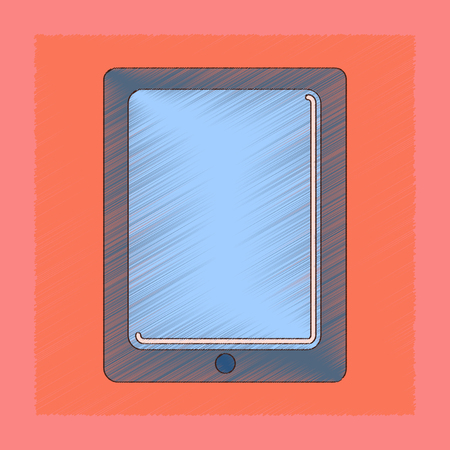 flat shading style icon tablet gadget