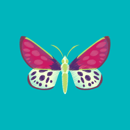 Flat shading style icon butterfly Иллюстрация