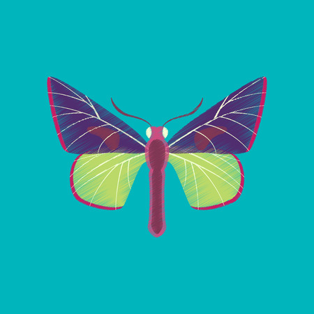 Flat shading style icon butterfly Illustration