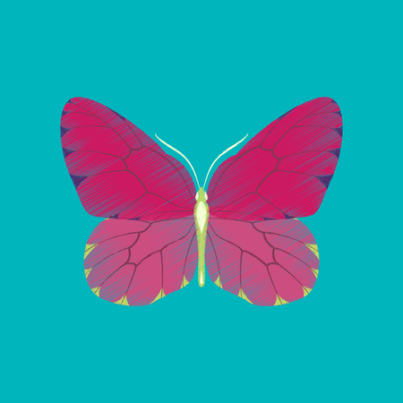 Flat shading style icon butterfly Stock Illustratie