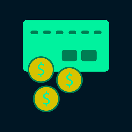 Flat icon of bank card