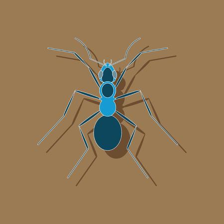 paper sticker on stylish background of ant Vettoriali