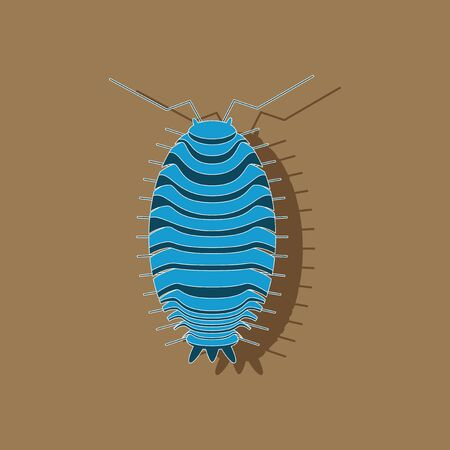 paper sticker on background of wood louse