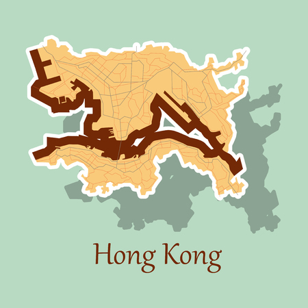 stickers in form of Hongkong
