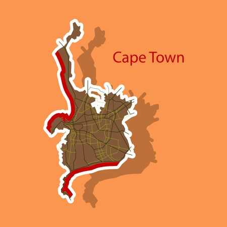 Sticker map of Capetown.