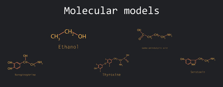 Chemical formulas of food and cosmetic preservatives.