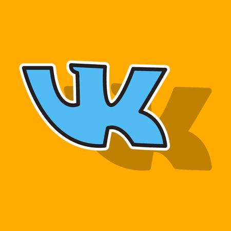 Sticker vkontakte icon on background