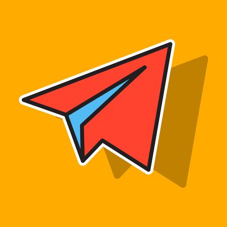 Aircraft Button Icon Vector. Telegram icon. Illustration