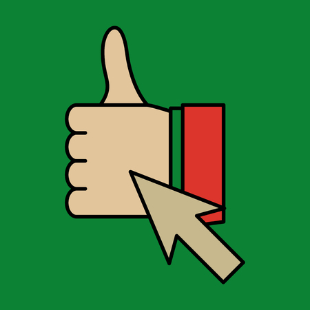 Thumbs up like social network icon new appreciation number symbol. Idea - blogging and online messaging, social networking services.