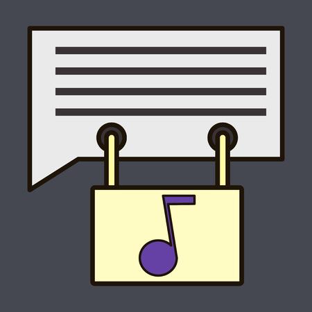 Flat Voice mail icon. Speaker symbol. Audio message.