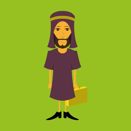 flat icon on theme Arabic business Muslim businessman Illustration