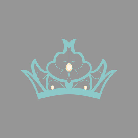flat icons on theme of Andorra crown