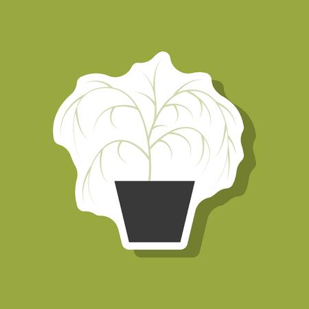 paper sticker plant in a pot