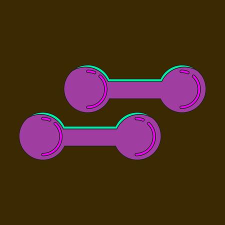 Icon in flat design dumbbells