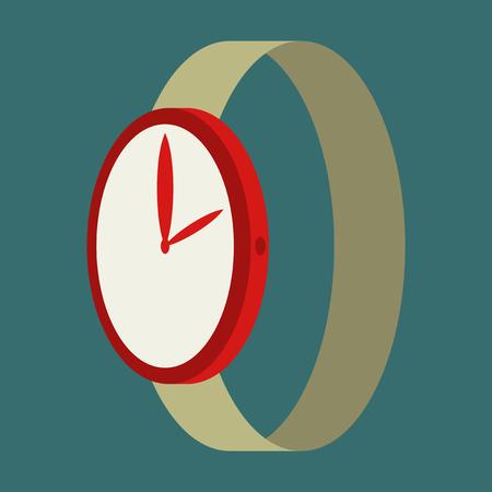 Icon in flat design fashion Wrist Watch