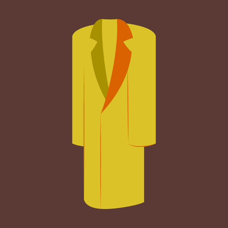Icon in flat design fashion clothes long coat